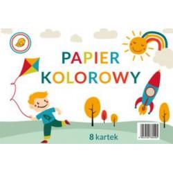 Papier kolorowy A4 8 kart.